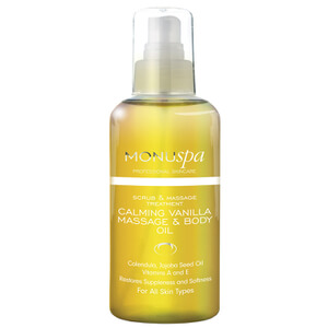100ml MONUspa Calmant Vanilla Bath and Body Oil