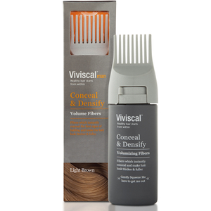 Viviscal Hair Thickening Fibres for Men, Castaño claro