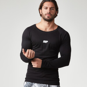 Myprotein Men's Seamless Performance Long Sleeve Top - Black