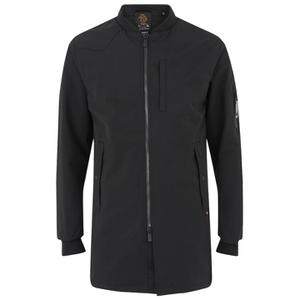 Luke Men's Nation Long Length Jacket - Jet Black
