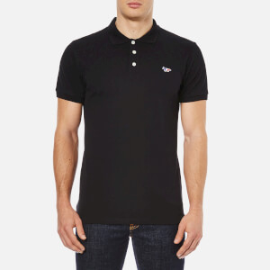 Maison Kitsuné Men's Tricolor Fox Polo Shirt - Black