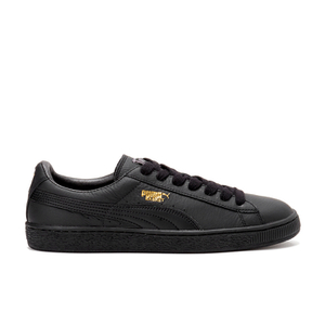 Puma Men's Basket Classic LFS Low Top Trainers - Black/Team Gold