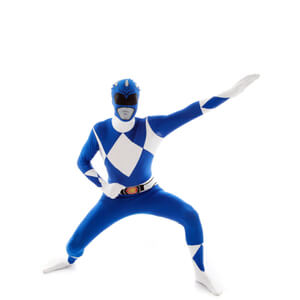 Morphsuit Adulte Power Rangers Bleu