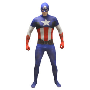 Morphsuit Adults' Marvel Captain America - Multi