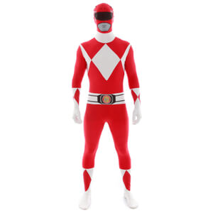 Morphsuit Power Rangers -Adulte -Rouge