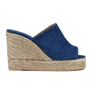 Castaner Women's Bubu Wedged Espadrilles - Denim Marino