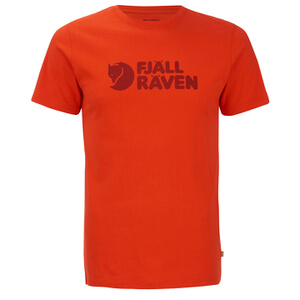 Fjallraven Men's Logo T-Shirt - Flame Orange