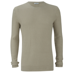 J.Lindeberg Men's Crew Neck Knitted Jumper - Golden Beige