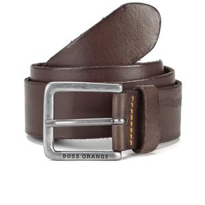 BOSS Orange Men's Jeek Leather Belt - Brown