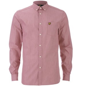 Lyle & Scott Vintage Men's Long Sleeve End On End Shirt - Ruby