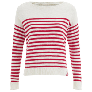 Superdry Women's Breton Icarus Jumper - White/Red