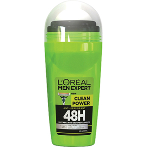 L'Oréal Paris Men Expert Clean Power 48H Roll-on Anti-Traspirante (50ml)