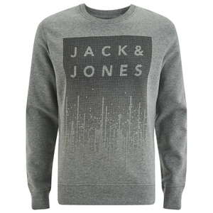Jack & Jones Men's Core Noise Sweatshirt - Light Grey Melange