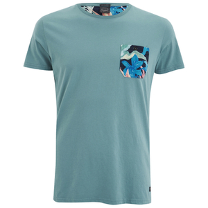 Jack & Jones Men's Originals Army Pocket T-Shirt - Mineral Blue
