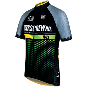 Santini Tour Down Under Corkscrew Road Short Sleeve Jersey 2016 - Blue