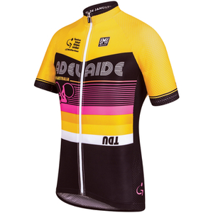 Santini Tour Down Under Adelaide Short Sleeve Jersey 2016 - Yellow