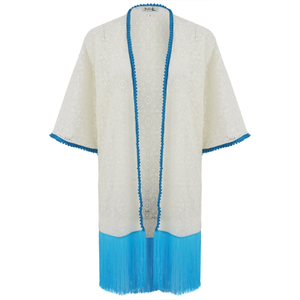 Paolita Women's Mandalay Lace Kimono - Cream
