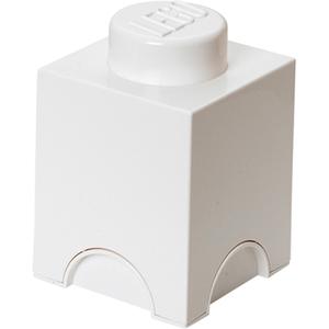 Brique de rangement LEGO® Blanche 1 tenon