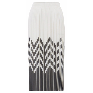 Designers Remix Women's Tilt Graphic Pleated Skirt - Black/White