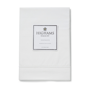 Highams 100% Egyptian Cotton Pillowcase - White