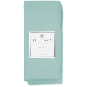 Highams 100% Egyptian Cotton Plain Dyed Fitted Sheet - Duck Egg