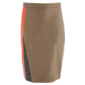 2NDDAY Women's Eran Leather Skirt - Golden Camel
