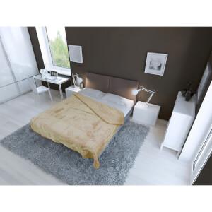 Dreamscene Luxurious Faux Fur Throw - Mink