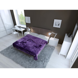 Dreamscene Luxurious Faux Fur Throw - Purple