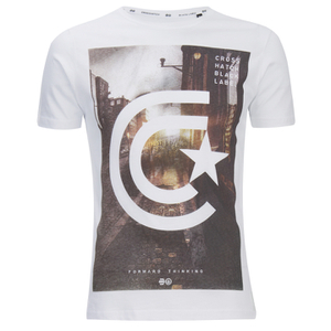 Crosshatch Men's Hamal Graphic T-Shirt - White