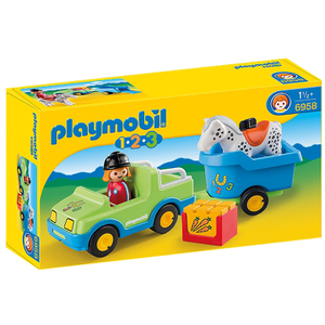 Playmobil 1.2.3. Car with Horse Trailer (6958)