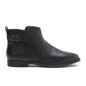 UGG Women's Demi Leather Flat Ankle Boots - Black