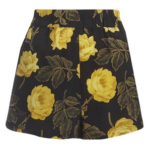 Ganni Women's Lee Silk Shorts - Fusion Rose