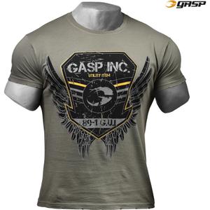 GASP Men's Rough Print T-Shirt - Wash Green