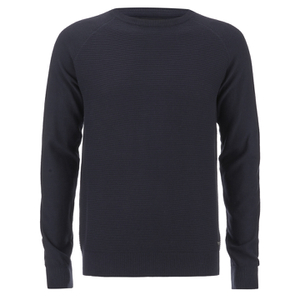 Threadbare Men's Tallin Raglan Crew Neck Jumper - Rich Navy
