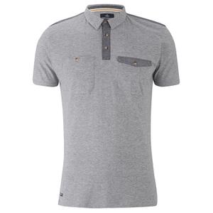 Threadbare Men's Harrisburg Coded Polo Shirt - Grey