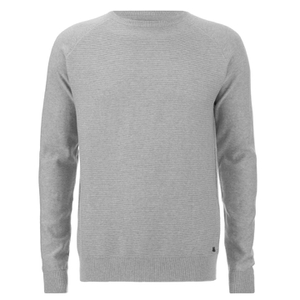 Threadbare Men's Tallin Raglan Crew Neck Jumper - Grey Marl