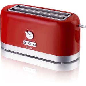 Swan ST10090RedN 4 Slice LongSlot Toaster - Red