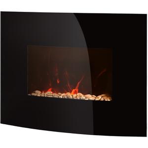 Warmlite WL45022 Curved Glass Wall Fire - Black