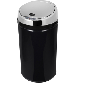 Morphy Richards 971497/MO Round Sensor Bin - Black - 30L