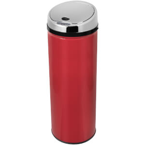 Morphy Richards 971521/MO Round Sensor Bin - Red - 50L