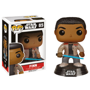 Star Wars The Force Awakens Finn met Lightsaber Funko Pop! Bobblehead Figuur