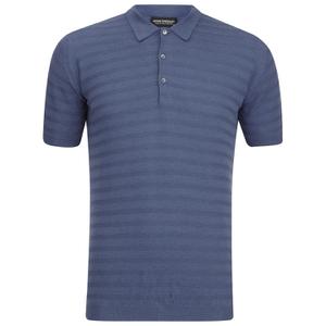 John Smedley Men's Runkel Sea Island Cotton Polo Shirt - Baltic Blue