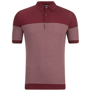 John Smedley Men's Viking Sea Island Cotton Polo Shirt - Russet Red