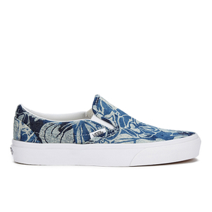 Vans Unisex Classic Slip-on Indigo Tropical Trainers - Blue/True White
