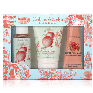 Crabtree & Evelyn Pomegranate, Argan & Grapeseed Little Luxuries  3 x 50ml