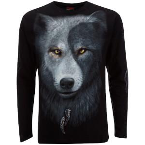Camiseta manga larga Spiral Wolf Chi - Hombre - Negro