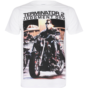 T-Shirt Terminator 2 I Need Your Motor Cycle - Blanc