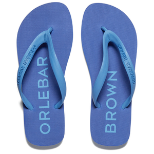 Orlebar Brown Men's Watson Flip Flops - Dark Butterfly/Riviera