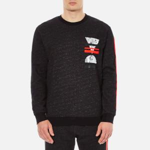McQ Alexander McQueen Men's Big Crew Neck Sweatshirt - Black Melange