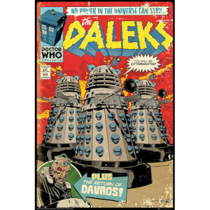 Doctor Who Daleks Comic Cover - 24 x 36 Inches Maxi Poster